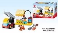 Smoneo 20 штук 77002a DIY Smart Line храброго пожарного автомобиля история большой Размеры здания Конструкторы Кирпичи Детские игрушки подходят для lego д...