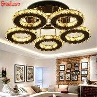 Crystal Rings Ceiling Lights Modern lamp ceiling Luminaire plafonnier for Living Room Led Lustres Indoor home decor Lights