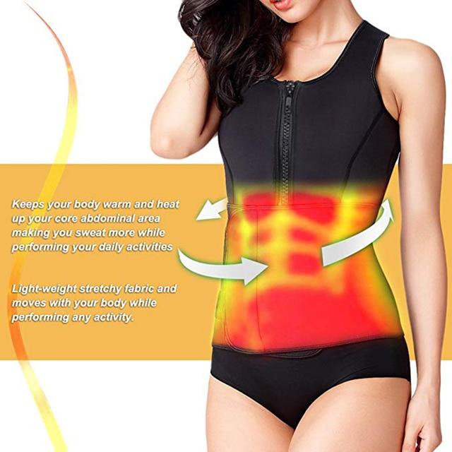 Pregnant woman Neoprene Sauna Slimming Waist Trainer Vest Postpartum Corset Hot Shaperwear Adjustable Sweat Belt Body Shaper 2