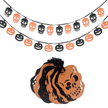 Omilut 12pcs Halloween Decor Banner Bone Terror Birthday Party Supplies