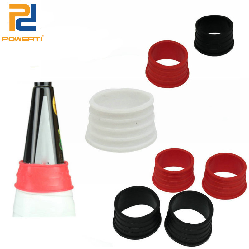 Silicone Badminton Overgrip Ring Handle Grip Ring Protecter For Badminton Racket 10pcs/lot Powerti
