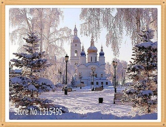 Резина для гп мозаика алмаз живопись зима вышивка крестом картина диаманта rhinestone вышивка украшение дома B086