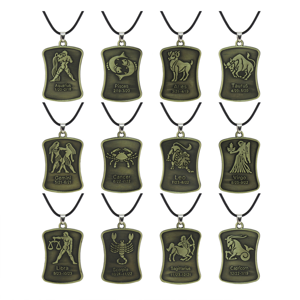 Aliexpress Com Buy 12 Zodiac Signs Constellation: Trusta 2017 Fashion Jewelry Rusty Bronze The 12 Zodiac