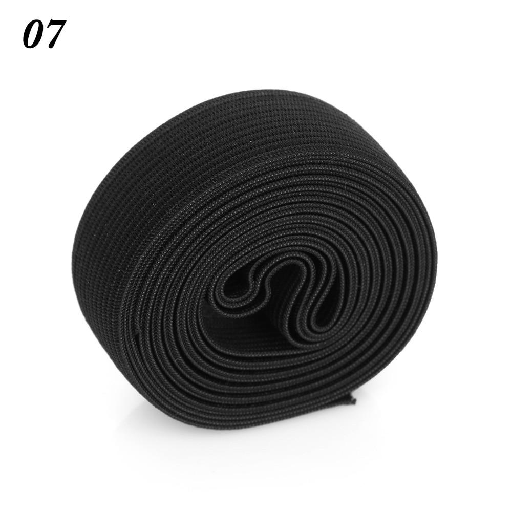 2 м/рулон многофункциональная эластичная лента плотная плетеная резинка из полиэстера шитье из кружева отделка ленты для талии аксессуары для одежды домашний текстиль - Цвет: 7