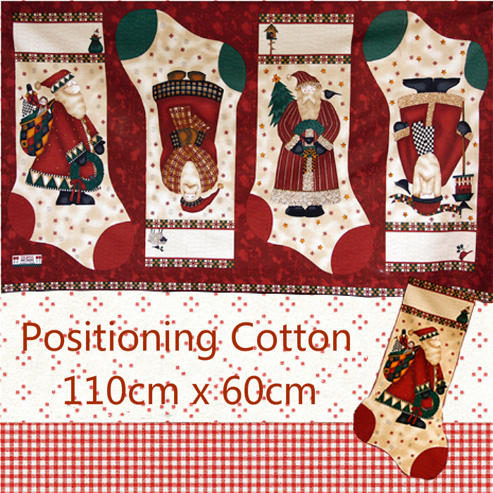 110cm X 60cm Thin Cotton Santa Claus Milu Gingerbread Snowman Christmas Stocking Tree Doll Manual DIY Fabric Location Cloth