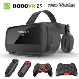 Oryginalny bobovr Z5/bobo vr Z5 gogle wirtualnej rzeczywistości 120 FOV 3D okulary google tektura z zestaw słuchawkowy zestaw słuchawkowy Stereo pudełko do smartfona