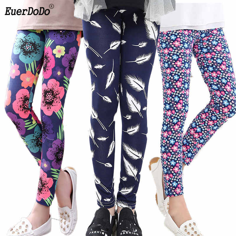 Flower Girls Leggings 소녀를위한 연필 바지 Autumn Kids Pants Teenager 12 14 Years Children Trousers