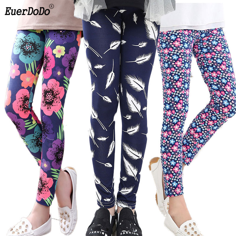 Flower Girls Leggings Pencil Pants For Girl Autumn Kids Pants Teenager 12 14 Years Children Trousers