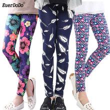 Flower Girls legginsy ołówkowe spodnie dla dziewczynki jesienne spodnie dla dzieci nastolatek 12 14 lat spodnie dziecięce tanie tanio EuerDoDo SILK COTTON CN (pochodzenie) skinny Dziewczyny PATTERN Łuk Pełnej długości Pasuje prawda na wymiar weź swój normalny rozmiar