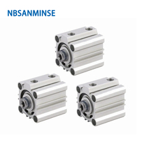 NBSANMINSE CQ2B32 Compact Cylinder Double Acting Single Rod Air Pneumatic Automation Application