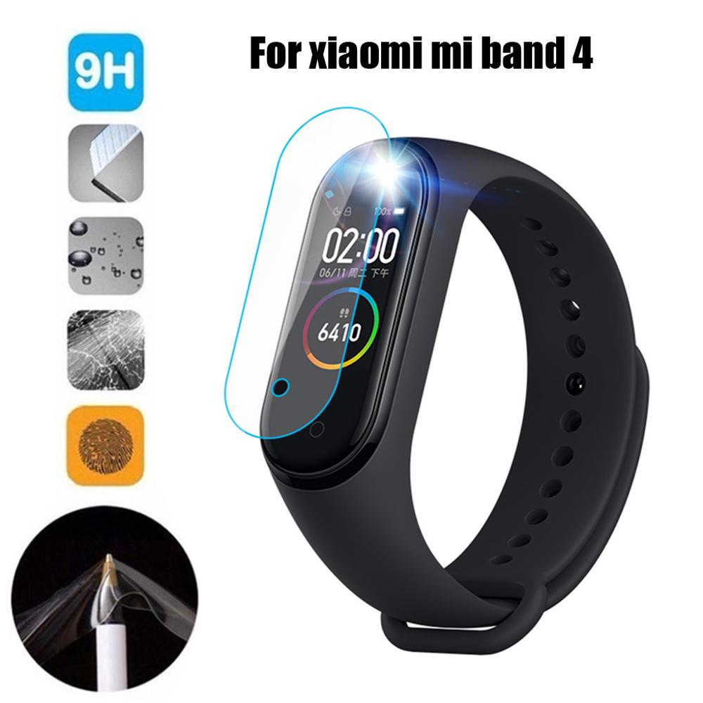 1/3 PCS Tempered With Hole Screen Protector Screen Condensate Film For Xiaomi Mi Band 4 Smart Bracelet Wearable accessories #612 xiaomi mi band 4