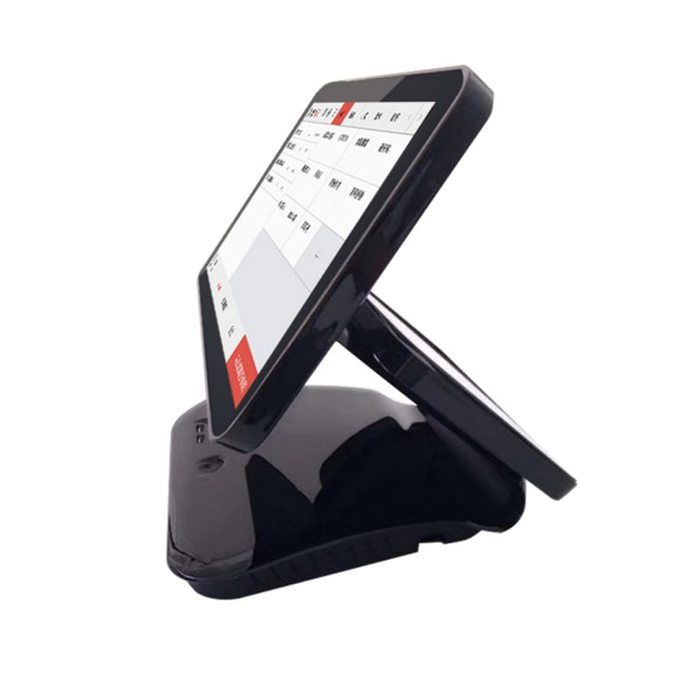 15.6 inch dual capacitive touch screen cash register //EPOS systems touch machine for retail linux pos1519D