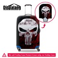 Skull Print trolley luggage protective covers for young men,elastic polyester travel luggage cover for boys,travel luggage cover