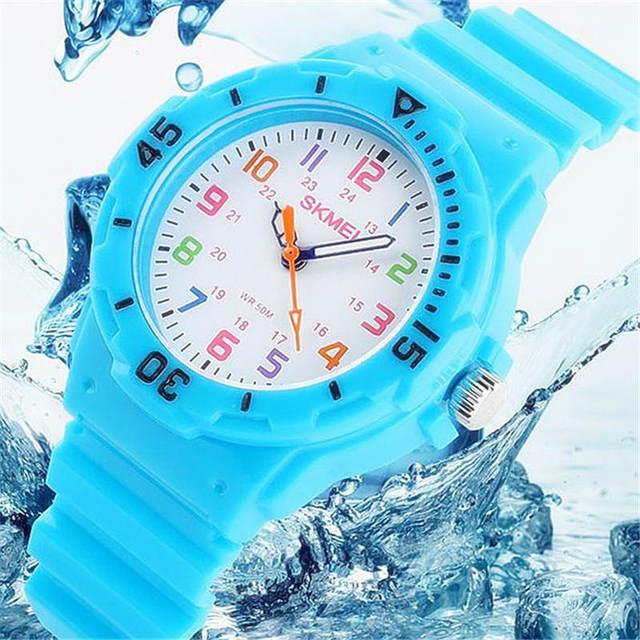Swim Children Watches Jelly Child Watch 50M Waterproof Wristwatch Kids Boy Girl