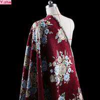 140 100cm1pc High Grade Brocade Fabric French Imported Velvet Jacquard Brocade Fabric Sewing Material Diy Women