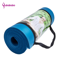 15MM NBR Non slip Yoga Mats For Fitness Brand Pilates Pads Sport Mats Outdoor Camping Pads Picnic Mats with Yoga Bag Yoga Strap