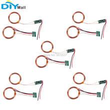 5 pçs/set Módulo Carregador de Energia de Carregamento Sem Fio Receptor Wi-fi Transmissor Transceptor Módulo