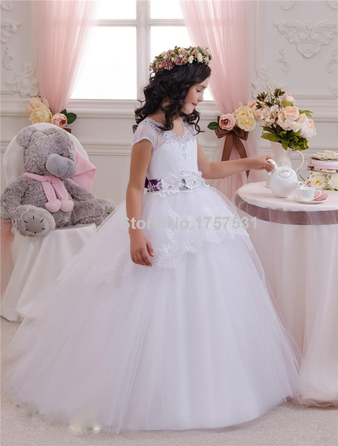 Cinturones de flores para vestidos de comunion