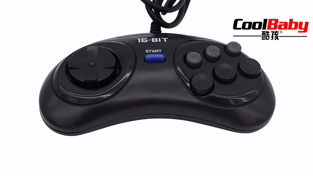 Video Games 100pcs 16 Bit Classic Wired Game Controller For Sega Genesis 6 Button Gamepad For Sega Mega Drive Mode Fast Slow