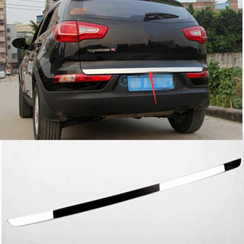 for KIA SportageR 2009 2010 2011 2012 2013 2014 2015 5dr High quality stainless steel Rear Trunk Lid Cover Trim ger