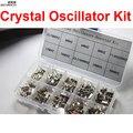 200 PC/LOTE Cristal Oscilador Assorted Kit Sortido Set, 32.768 KHz ~ 48 MHz 10 Valores Cada 20 pcs Com a Caixa CGKCH063