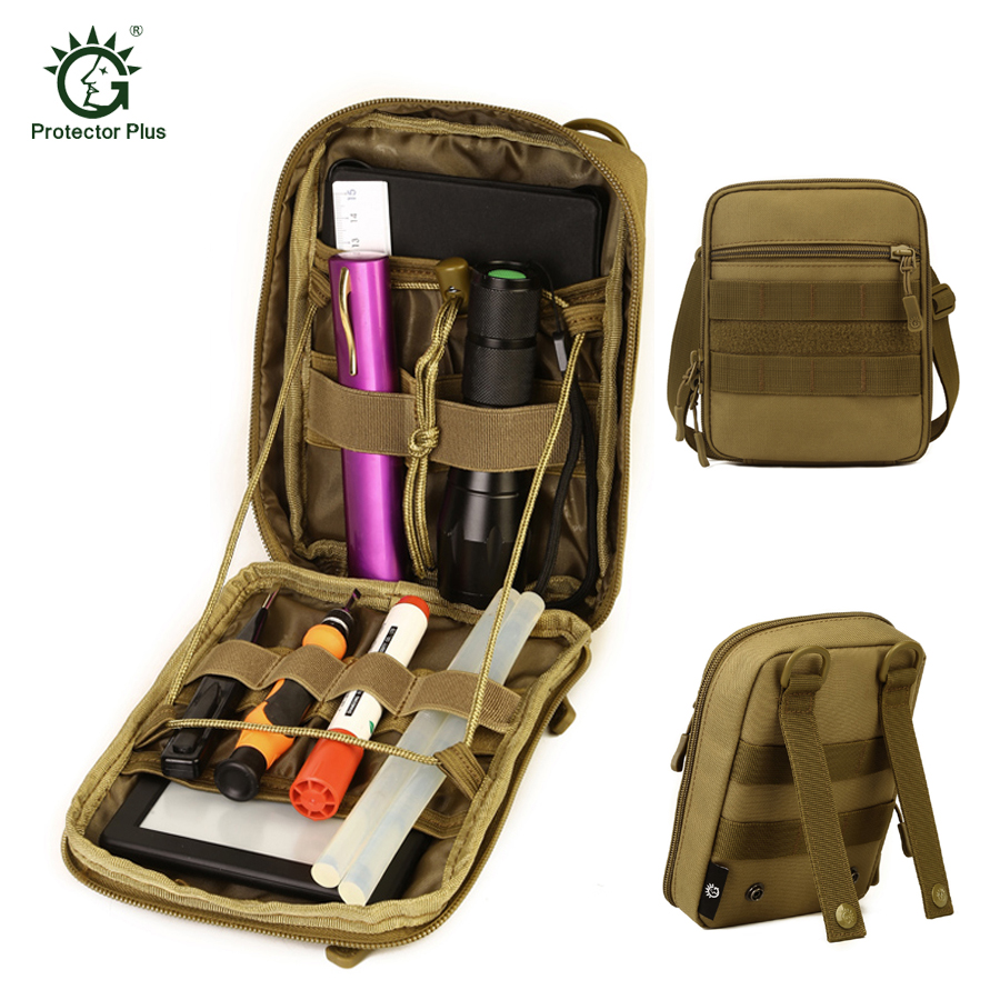 Tactical Utility Molle EDC Pouch Outdoor Hunting Tool Organizer Hiking Camping Sport 1000D CORDURA Nylon Accessories Bag 1000d nylon molle tactical hunting bags outdoor sport single shoulder bag men outdoor sport camping hiking hunting waist bags