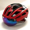 Casco de ciclismo lentes gafas de sol visera casco de bicicleta casco ciclismo capacete da bicicleta bici Mtb casco de montaña 58-61 cm