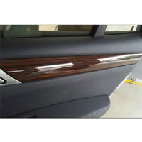 BBQ@FUKA New Accessories Wood Grain Color Dash Cover Gear Panel Trim Kit Full Set 6x For 2011 2012 2013 2014 2015 2016BMW X3 F25