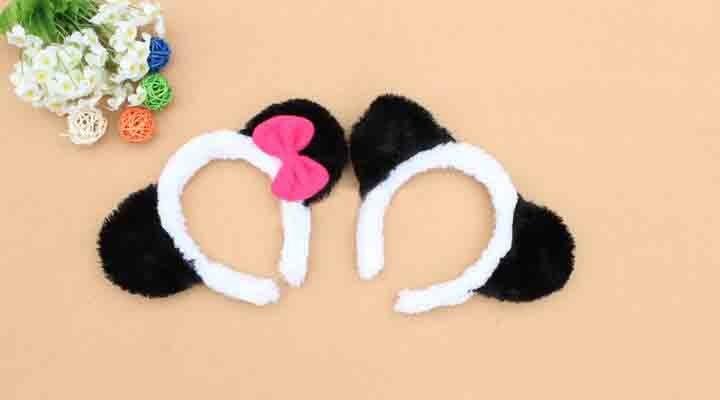 Envío libre, amantes de la panda del oído diadema, diadema fiesta de  navidad,