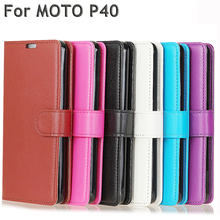 Lychee pattern Leather Protective Cover Case for Motorola Moto P40 Men Women Aniti Knock Flip Coque Funda Shell Cases Bag цена и фото