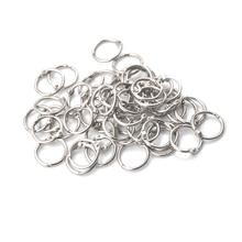 50 шт. 16 мм скоросшиватель 20 мм наружный диаметр кольцо для ключей пружинное кольцо