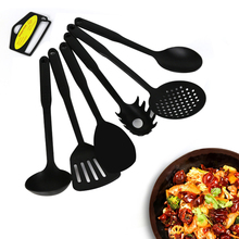 KONCO 6 шт. пластиковая кухонная утварь набор для выпечки набор посуды с половник-дуршлаг лопатка Черпак ложка для супа паста коготь