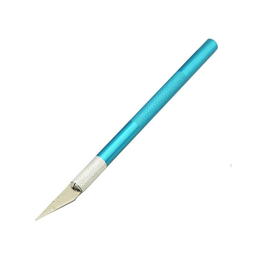 Нескользящий металлический нож для скальпеля набор инструментов для резки гравюра ножи + 5 шт. лезвия мобильный телефон PCB DIY ремонт ручные инструменты