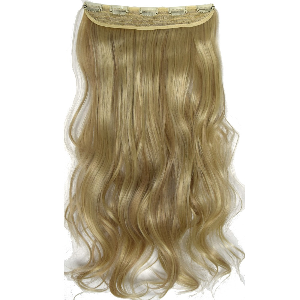 Heat Resistant Synthetic Fiber120gr Wavy 5 Clips On Clip In Hair Extensions 5002