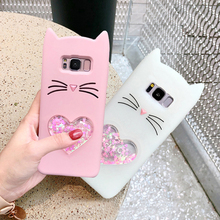 For samsung galaxy s8 s9 plus note 8 s7 edge j7 j5 2016 j3 2017 j2 j5 j7 prime case cover 3d beard cat glitter soft silicone she