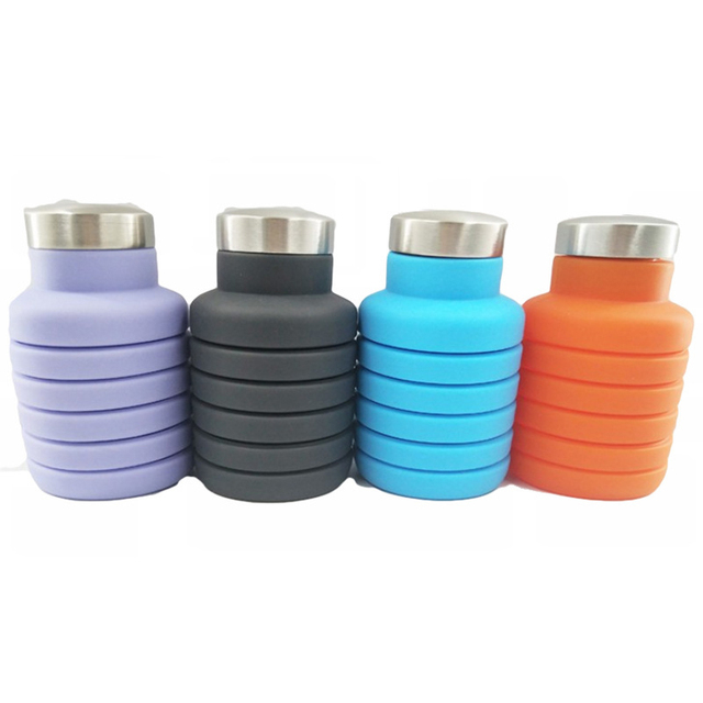 Portable Silicone Retractable Water Bottle