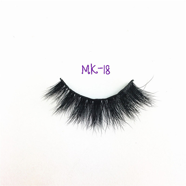 Mk 18 Eyelash Extension 1pc L Curl Mink 3d False Eyelashes Human