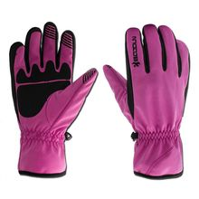 Purple Unisex Winter Warm Windproof Waterproof Skiing Snowboard Glove Motorcycle Riding Gloves Outdoor Sport Running Gloves
