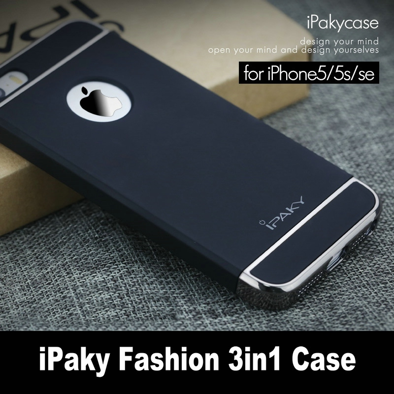 Original iPaky For Apple iPhone 5s Case 3in1 Plating Matte Housing Back Cover For iPhone SE