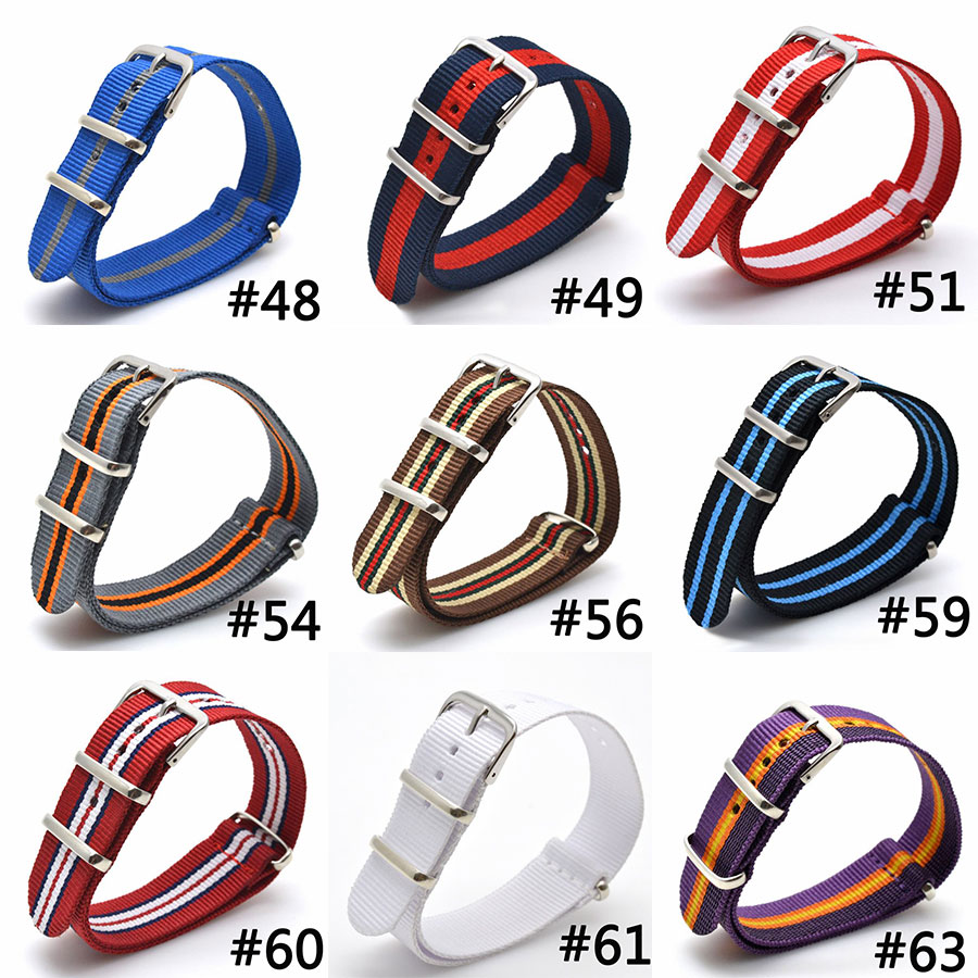 Fabric Nylon Watch Bands Strap 9 COLOR AVAILABLE Men Women 16 18 20 22 24mm Top Quality 2017 Nato Army Sports Buckle top brand luxury men watch band straps red 16 18 22 24mm bracelet nato fabric nylon watchbands strap bands buckle belt