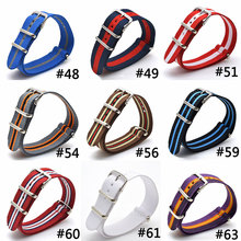 Fabric Nylon Watch Bands Strap 9 COLOR AVAILABLE Men Women 16 18 20 22 24mm Top Quality 2017 Nato Army Sports Buckle