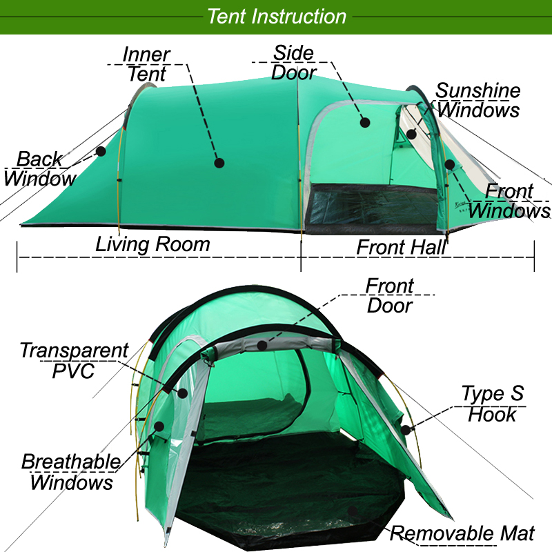 tent instruction