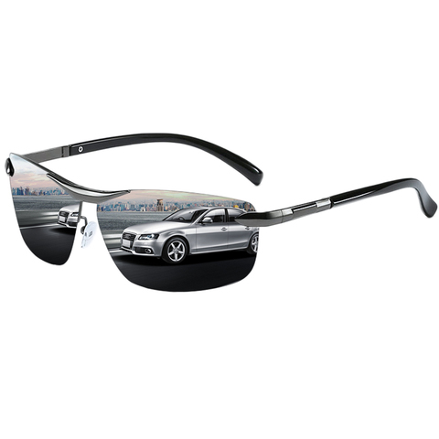 Brand Design Fashion Sunglasses Men Polarized Pilot Chameleon Photochromism Anti Glare Glasses Day Night Driving Male Sunglasses Islamabad