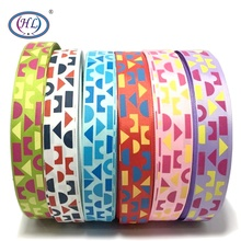 HL 1(25mm) 6 Meters/lot Printed Geometric Grosgrain Ribbons Wedding Party Decorative Gift Wrapping DIY Chilren Hair Accessories 6yards lot mix printed trim geometric ribbons diy wrapping wedding party hair bow decoration art sewing accessories 040054006