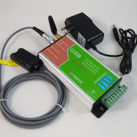 Free Shipping Two Relay Output And 2 Alarm Input GSM Temperature Humidity Monitor And SMS Alarm