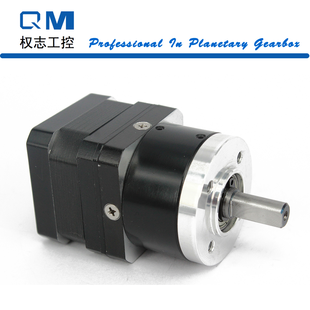 Geared Stepper Motor Nema 17 Stepper Motor 26mm Nema 17 Planetary Reduction Gearbox Ratio 5:1 15 Arcmin cnc robot pump 57mm planetary gearbox geared stepper motor ratio 10 1 nema23 l 56mm 3a
