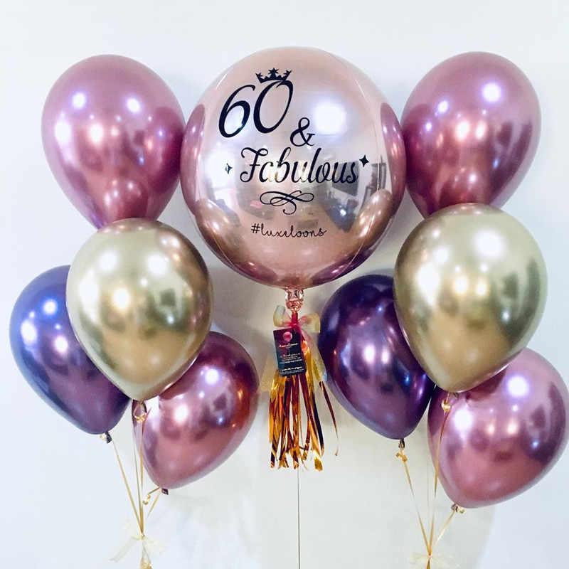 10 шт./лот 10 дюймов металлический хром латексные шары прозрачные серебряные конфетти шары Свадьба День Рождения Розовое Золото латвечерние ексный декор для вечеринки день рождения украшения для взрослых цифра 1 2 3