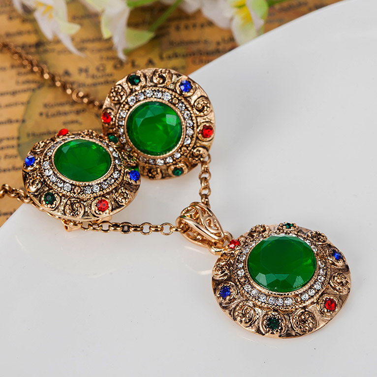 Fashion Women African Beads Jewelry Sets Tin Alloy Turkishe Necklace  Earring Sets Joias Indians Vintage Jewellery Sets Women In Jewelry Sets  From Jewelry ...