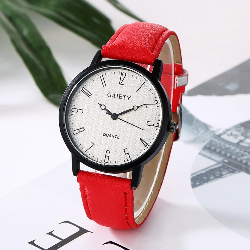 Relogio 2018 NEW Women Fashion Watch Retro Design Big Dial Analog Quartz Wrist Watches Clock Women's PU Leather Sports Watch #JO fabulous 1pc new women watches retro design leather band simple design hot style analog alloy quartz wrist watch women relogio