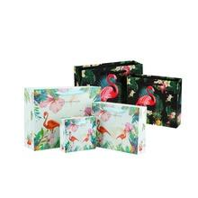 Bird-Handbag Gift-Bag Flamingo Handles Party-Supply 10pcs with Rope Multifuntion Festival